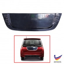 Perodua Alza Custom Fit Rear Bonnet OEM ABS Acrylic Plastic Decorative Number Plate Holder Black