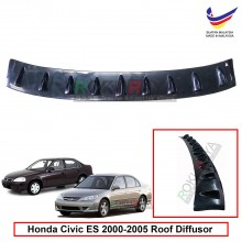 Honda Civic ES (7th Gen) 2000-2005 Vortex Generator Shark Fin Aerodynamic Rear Top Roof Diffuser Diffusor