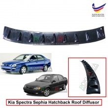 Kia Spectra / Sephia (Sedan and Hatchback) Vortex Generator Shark Fin Aerodynamic Rear Top Roof Diffuser Diffusor