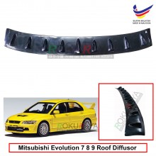 Mitsubishi Lancer 7 8 9 Vortex Generator Shark Fin Aerodynamic Rear Top Roof Diffuser Diffusor