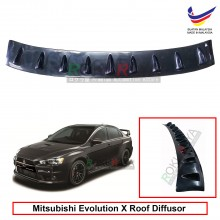 Mitsubishi Evolution X 10 Vortex Generator Shark Fin Aerodynamic Rear Top Roof Diffuser Diffusor