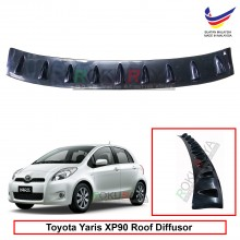 Toyota Yaris XP90 (2nd Gen) 2005-2013 Vortex Generator Shark Fin Aerodynamic Rear Top Roof Diffuser Diffusor