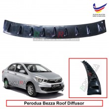 Perodua Bezza 2016 Vortex Generator Shark Fin Aerodynamic Rear Top Roof Diffuser Diffusor