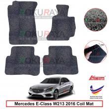 Mercedes E-Class W213 2016 12mm Custom Fit Pre Cut PVC Coil Floor Mat Anti Slip Carpet Nail Spike (Black) (Kawata Made in Malaysia)