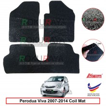 Perodua Viva 12mm Custom Fit Pre Cut PVC Coil Floor Mat Anti Slip Carpet Nail Spike (Black) (Kawata Made in Malaysia)