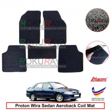 Proton Wira 12mm Custom Fit Pre Cut PVC Coil Floor Mat Anti Slip Carpet Nail Spike (Black) (Kawata Made in Malaysia)