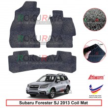 Subaru Forester SJ (4th Gen) 2014 12mm Custom Fit Pre Cut PVC Coil Floor Mat Anti Slip Carpet Nail Spike (Black) (Kawata Made in Malaysia)
