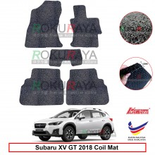 Subaru XV GT (5th Gen) 2018 12mm Custom Fit Pre Cut PVC Coil Floor Mat Anti Slip Carpet Nail Spike (Black) (Kawata Made in Malaysia)