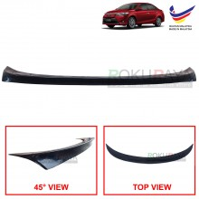 Toyota Vios XP150 (3rd Gen) 2013-2018 Ducktail ABS Plastic OEM Rear Bonnet Trunk Boot Lip Spoiler (Black)