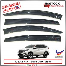 Toyota Rush 2018 AG Door Visor Air Press Wind Deflector (Big 12cm Width)