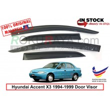 Hyundai Accent X3 (1st Gen) 1994-1999 AG Door Visor Air Press Wind Deflector (Small 7cm Width)