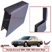 Honda Accord SM4 (4th Gen) 1989-1993 4' Plywood PVC Armrest Center Console Box (Black)
