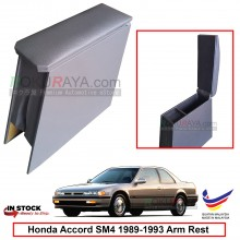 Honda Accord SM4 (4th Gen) 1989-1993 4' Plywood PVC Armrest Center Console Box (Grey)