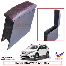 Honda BRV BR-V 2015 4' Plywood PVC Armrest Center Console Box (Sponge+Diamond)