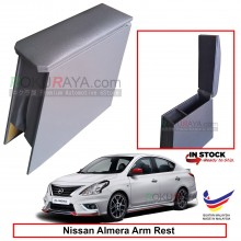 Nissan Almera N17 4' Plywood PVC Armrest Center Console Box (Grey)