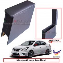 Nissan Almera N17 4' Plywood PVC Armrest Center Console Box (Black)