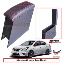 Nissan Almera N17 4' Plywood PVC Armrest Center Console Box (Sponge+Diamond)