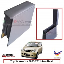Toyota Avanza (1st Gen) 2003-2011 4' Plywood PVC Armrest Center Console Box (Grey)