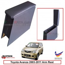 Toyota Avanza (1st Gen) 2003-2011 4' Plywood PVC Armrest Center Console Box (Black)