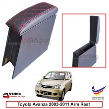 Toyota Avanza (1st Gen) 2003-2011 4' Plywood PVC Armrest Center Console Box (Sponge+Diamond)