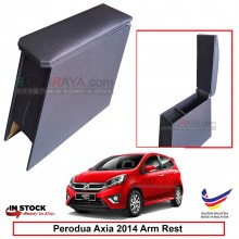 Perodua Axia 2014 4' Plywood PVC Armrest Center Console Box (Black)