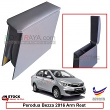 Perodua Bezza 2016 4' Plywood PVC Armrest Center Console Box (Grey)