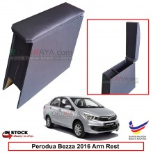 Perodua Bezza 2016 4' Plywood PVC Armrest Center Console Box (Black)