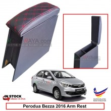 Perodua Bezza 2016 4' Plywood PVC Armrest Center Console Box (Sponge+Diamond)