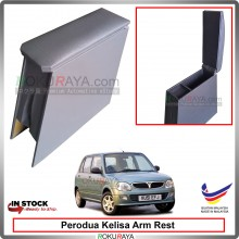 Perodua Kelisa 4' Plywood PVC Armrest Center Console Box (Grey)