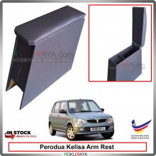 Perodua Kelisa 4' Plywood PVC Armrest Center Console Box (Black)