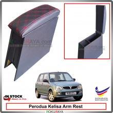 Perodua Kelisa 4' Plywood PVC Armrest Center Console Box (Sponge+Diamond)