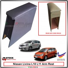 Nissan Livina L10 L11 4' Plywood PVC Armrest Center Console Box (Black)