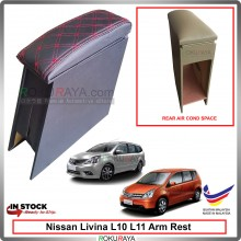 Nissan Livina L10 L11 4' Plywood PVC Armrest Center Console Box (Sponge+Diamond)