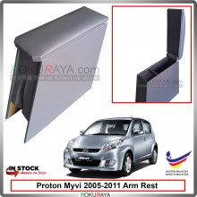 Perodua Myvi (1st Gen) 2005-2011 4' Plywood PVC Armrest Center Console Box (Grey)