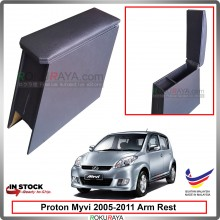 Perodua Myvi (1st Gen) 2005-2011 4' Plywood PVC Armrest Center Console Box (Black)