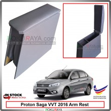 Proton Saga (3rd Gen) 2016 4' Plywood PVC Armrest Center Console Box (Grey)