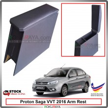 Proton Saga (3rd Gen) 2016 4' Plywood PVC Armrest Center Console Box (Black)