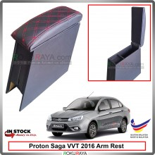 Proton Saga (3rd Gen) 2016 4' Plywood PVC Armrest Center Console Box (Sponge+Diamond)