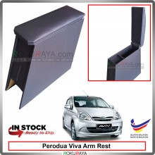 Perodua Viva 4' Plywood PVC Armrest Center Console Box (Black)