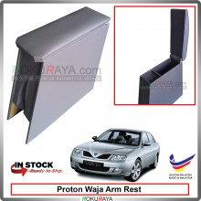 Proton Waja 4' Plywood PVC Armrest Center Console Box (Grey)