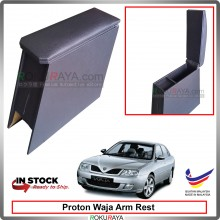 Proton Waja 4' Plywood PVC Armrest Center Console Box (Black)