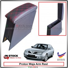 Proton Waja 4' Plywood PVC Armrest Center Console Box (Sponge+Diamond)