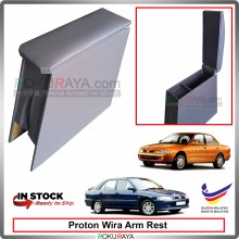 Proton Wira 4' Plywood PVC Armrest Center Console Box (Grey)