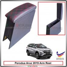 Perodua Aruz 2019 4' Plywood PVC Armrest Center Console Box (Sponge+Diamond)