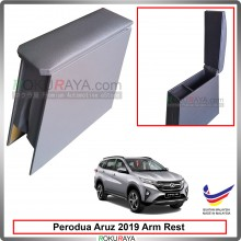Perodua Aruz 2019 4' Plywood PVC Armrest Center Console Box (Grey)