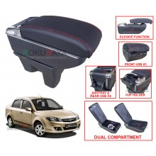 Proton BLM FLX (2nd Gen) Custom Fit Multi Purpose USB Chrome Redline Leather Arm Rest Center Console Box