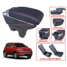 Haval H1 M4 (1st Gen) Custom Fit Multi Purpose USB Chrome Redline Leather Arm Rest Center Console Box