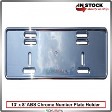 Plastic ABS Chrome Number Plate Holder Licence Plate Frame (13 x 8inch)