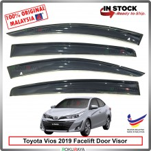 Toyota Vios Facelift 2019 AG Door Visor Air Press Wind Deflector (Big 12cm Width)
