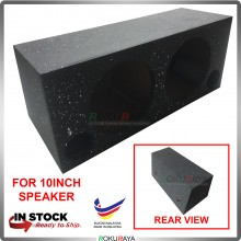 10'' 2Hole Double Sub Woofer Speaker Hot Box Mixture 6' and 4' Thickness Plywood